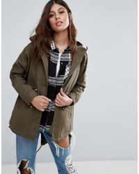 AX Paris - Lightweight Parka Coat - Lyst