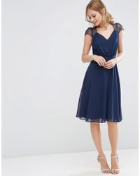 ASOS - Kate Lace Midi Dress - Lyst