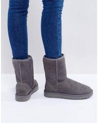 UGG - Classic Short Ii Grey Boots - Lyst