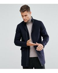 Noak - Asymmetric Funnel Neck Overcoat - Lyst