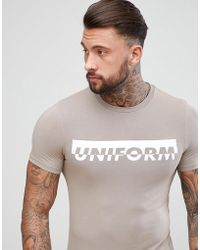 ASOS DESIGN - Muscle T-shirt With Uniform Slogan Print - Lyst