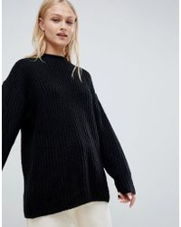 ASOS - Chunky Jumper In Rib With Crew Neck - Lyst