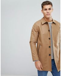 ASOS - Design Shower Resistant Single Breasted Trench In Tobacco - Lyst