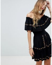 RahiCali - Flora Embroidered Mini Dress - Lyst