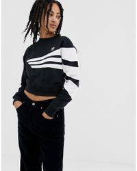 adidas Originals - Linear Jumper In Black - Lyst