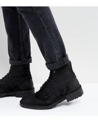 DIESEL   Pitt Leather Lace Up Boots   Lyst