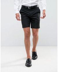 ASOS - Smart Short In Black - Lyst