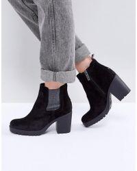 Hilfiger Denim - Glitter Gusset Stacked Heel Ankle Boot - Lyst
