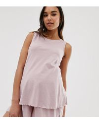 d509b2948e20d ASOS - Asos Design Maternity Mix & Match Marl Pyjama Jersey Vest - Lyst