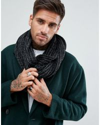 New Look - Knitted Snood In Black - Lyst