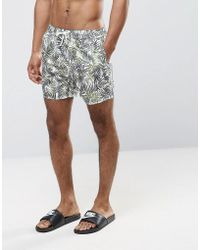 Another Influence | Leaf Print Swim Shorts | Lyst