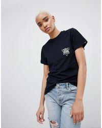 Vans - Black Triangle Back Print T-shirt - Lyst