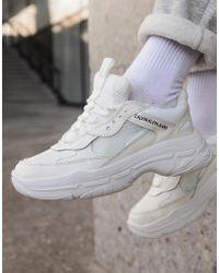 Calvin Klein - Maya White Chunky Trainers - Lyst