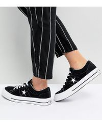 Converse - One Star Ox Sneakers In Black - Lyst