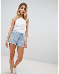 New Look - Embroidered Shorts - Lyst
