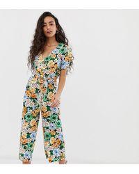 Miss Selfridge - Jumpsuit In Floral Print - Lyst