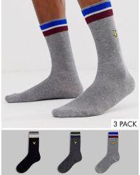 Lyle & Scott 3 Pack Solid Socks