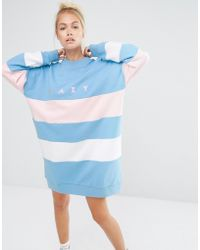 Lazy Oaf - Oversized Sweatshirt With Contrast Panels - Lyst