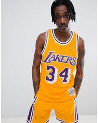 Mitchell & Ness - Nba Lakers Swingman Vest In Yellow - Lyst