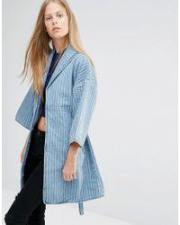 Ganni - Denim Kimono Style Jacket - Lyst