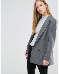 Ganni - Moscow Tailor Single Button Blazer - Lyst