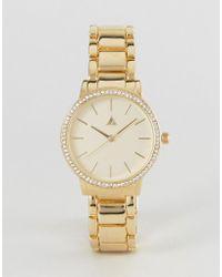 ASOS - Premium Crystal Detail Metal Bracelet Watch - Lyst
