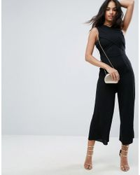 ASOS - Jumpsuit With Wrap Front And Tie Back - Lyst