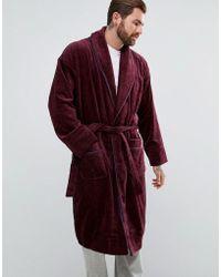 Ted Baker - Robe In Burgundy - Lyst