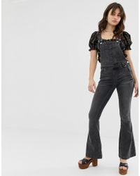 Free People - Carly Flare Overall - Lyst