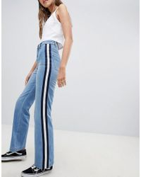 Daisy Street - Jeans With Sports Tape Detail - Lyst