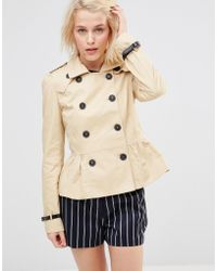 Lavand - Short Double Breasted Classic Trench - Lyst
