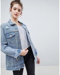 Bershka - Oversized Denim Jacket - Lyst