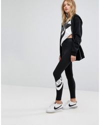 Plus Leg-A-See High Waisted Leggings In Grey - Grey Nike nhrgv