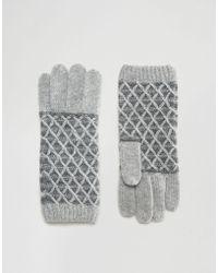 Alice Hannah - Vintage Diamond Stitch Glove - Lyst
