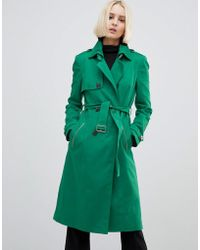 River Island - Double Breasted Trench Coat - Lyst