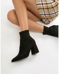 Stradivarius - Heeled Sock Boot - Lyst