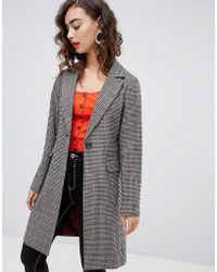 f14f161bcec3 New Look - Check Tailored Coat - Lyst