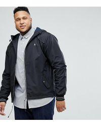 Original Penguin - Big & Tall Lightweight Poly Hooded Jacket In Black - Lyst