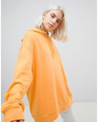 Weekday - Shanti Oversized Hoodie With Back Logo - Lyst