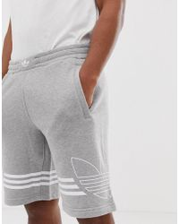 7f1a15ff0d7ff5 adidas Originals - Adidas Original Jersey Shorts Trefoil Logo In Gray - Lyst