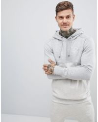 SIKSILK - Cut And Sew Hoodie In Gray - Lyst