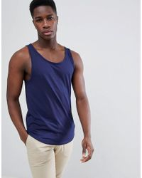 Esprit | Longline Vest With Raw Curved Hem | Lyst