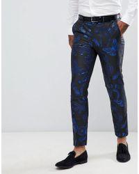 ASOS - Skinny Suit Trouser In Western Jacquard - Lyst