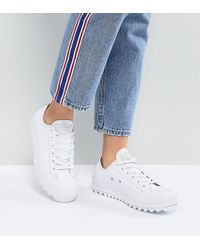 Converse - Chuck Taylor All Star Lift Ripple Ox Trainers In White - Lyst