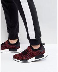 7d174b7bf655f adidas Originals - Nmd R1 Stlt Primeknit Trainers In Black Cq2385 - Lyst