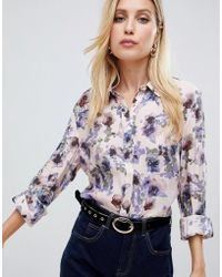 Vila - Floral Classic Shirt - Lyst