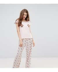 Monki - Holidays Gingerbread Pajama Set - Lyst