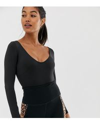 Wolf & Whistle - Exclusive To Asos Back Detail Bodysuit In Black - Lyst
