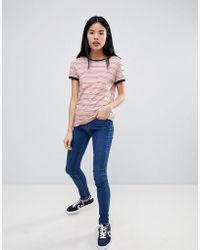 Lee Jeans - Stripe Ringer T-shirt - Lyst