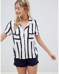 Chelsea Peers - Stripe Pyjama Short Set - Lyst